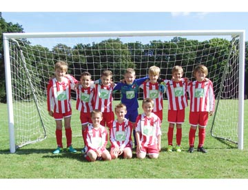 Structure-flex sponsor Holt Youth Under 9's Football Team